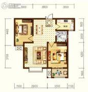 星耀东方国际城2室2厅1卫85--86平方米户型图