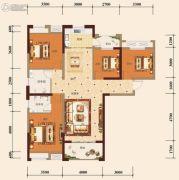 宏维・山水明城・卧龙苑4室2厅2卫136平方米户型图