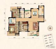 凤凰星城3室2厅2卫136平方米户型图