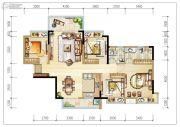 碧桂园森林里4室2厅2卫129平方米户型图