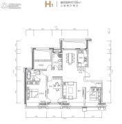 都丽华府3室2厅2卫136平方米户型图