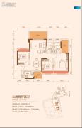 TCL康城四季3室2厅2卫110--111平方米户型图