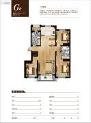 雨润中央宫园3室2厅2卫123--127平方米户型图