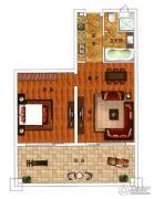 绿城朱家尖东沙度假村1室2厅1卫120平方米户型图
