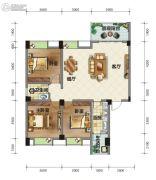 荣华山庄二期温情港湾3室2厅1卫119平方米户型图
