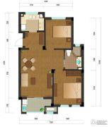 绿城乌镇雅园2室2厅1卫90平方米户型图