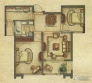 广洋海尚国际2室2厅1卫85平方米户型图