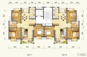 万达西双版纳国际度假区3室2厅1卫87--89平方米户型图