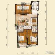 山水华庭4室2厅2卫123--127平方米户型图