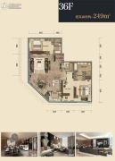 杭州印2室2厅3卫249平方米户型图
