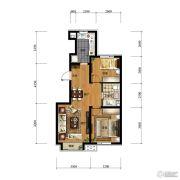 万科金域长春2室2厅1卫80平方米户型图