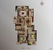 禹洲翡翠湖郡3室2厅2卫127平方米户型图