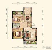 晟鑫康诗丹郡2室2厅1卫96平方米户型图