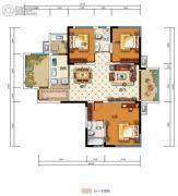 中国电建・湘熙水郡4室2厅2卫131平方米户型图