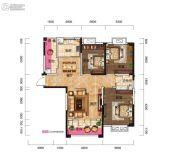 红星国际3室2厅1卫113平方米户型图