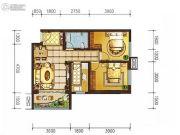 天娇苑・幸福城2室2厅1卫67平方米户型图