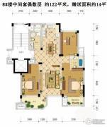 赞成香林3室2厅2卫122平方米户型图