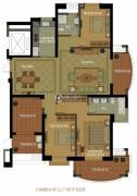 名城国际3室2厅2卫164--167平方米户型图