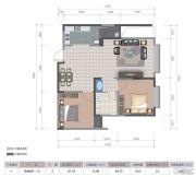 医大广场2室2厅1卫82平方米户型图