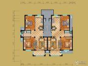 茗桂华庭2室2厅1卫90平方米户型图