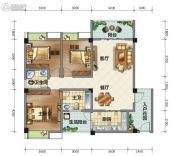 荣华山庄二期温情港湾3室2厅2卫116平方米户型图
