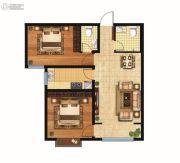 九珑湾2室2厅2卫89平方米户型图