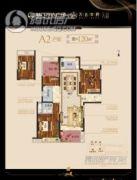 万达华府3室2厅2卫100--120平方米户型图