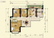 恒大云报华府3室2厅1卫106平方米户型图