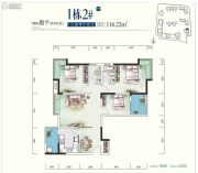 世康世纪城3室2厅2卫116平方米户型图
