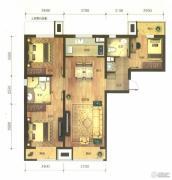 万科金域缇香3室2厅2卫115平方米户型图