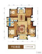 滨江西溪之星3室2厅2卫90平方米户型图