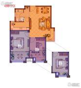 美好汇邻湾2室2厅1卫77平方米户型图