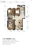 东湖方舟3室2厅2卫132平方米户型图