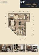 杭州印2室2厅3卫221平方米户型图