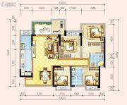 蓝光香江国际二期4室2厅2卫0平方米户型图