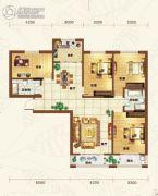 重邦康城4室2厅1卫157平方米户型图