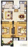 阳光龙庭2室2厅1卫73平方米户型图