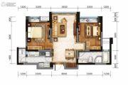 戛纳湾金棕榈2室2厅1卫75平方米户型图