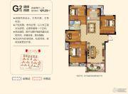 祥源文旅城4室2厅1卫121平方米户型图