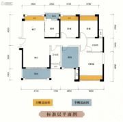 尚悦名都4室2厅2卫125平方米户型图