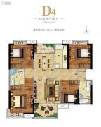 广州融创万达文化旅游城4室2厅2卫117平方米户型图