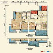 置信凯旋国际4室2厅2卫105--110平方米户型图