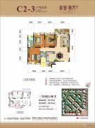彰泰春天2室2厅2卫126平方米户型图