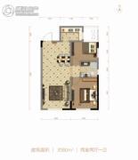 北大资源阅城2室2厅1卫80平方米户型图