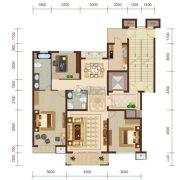 燕赵锦河湾3室2厅2卫140平方米户型图