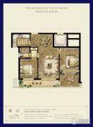时代滨江3室2厅1卫90平方米户型图