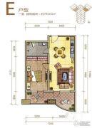 御庭春MOMA白金海岸公寓1室1厅1卫79平方米户型图