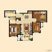 中粮祥云3室2厅1卫89平方米户型图