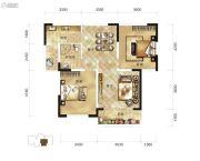 骧龙国际2室2厅1卫91平方米户型图