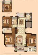 金麟府3室2厅2卫137平方米户型图